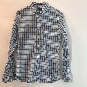 J. Crew Slim Fit Blue Checkered Button Down